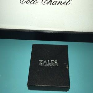 Zales White Gold 1 KT Diamond Necklace